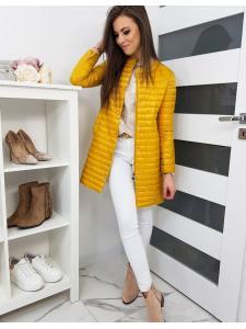 Dámsky prešívaný kabát Neli žltý