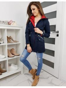 Tmavo-modrá obojstranná dámska párka bunda Sevilina
