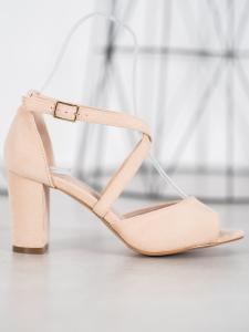 Semišové sandálky