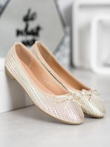 Pletené zlaté baleríny