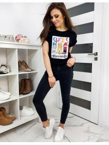 Čierne dámske tričko Boots