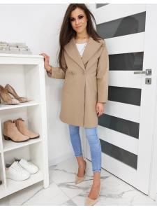 Bežový dámsky kabát Sevento