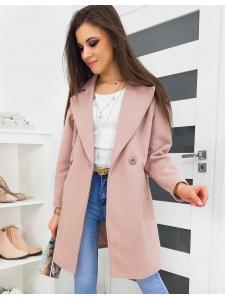 Ružový dámsky kabát Sevento
