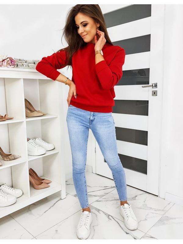 Červená dámska mikina Fashion II