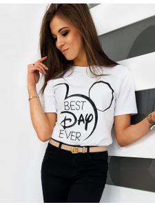 Biele dámske tričko Best Day