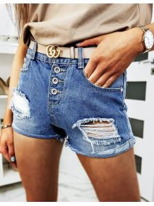 Modré dámske džínsové kraťasy Morgen