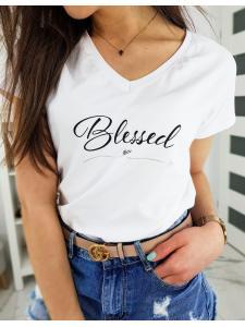 Biele dámske tričko Blessed