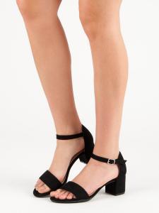 Čierne sandále na podpätku