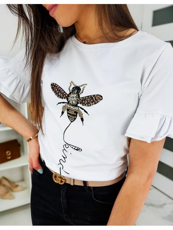 Biele dámske tričko Lind