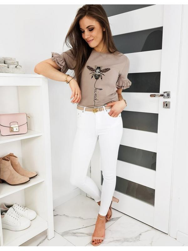 Béžové dámske tričko Lind