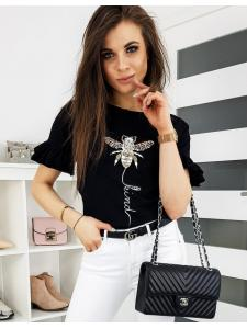 Čierne dámske tričko Lind