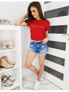 Červené dámske tričko Day Dreamer