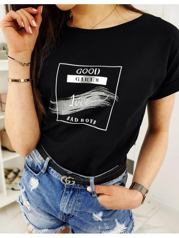 Čierne dámske tričko Good Girls