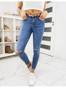 Modré dámske džínsy Skinny Fit Level