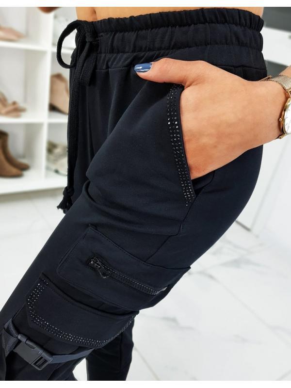 Čierne dámske teplákové nohavice Daimont