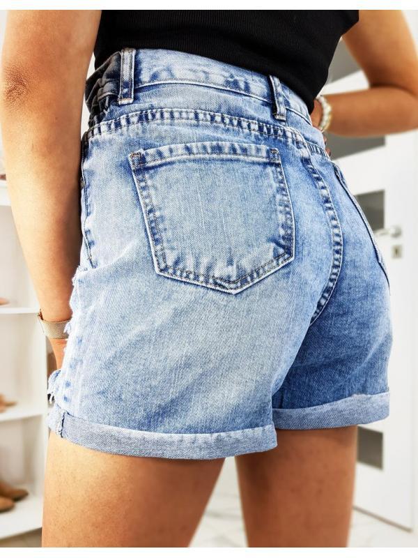 Modré dámske džínsové kraťasy Rebelson