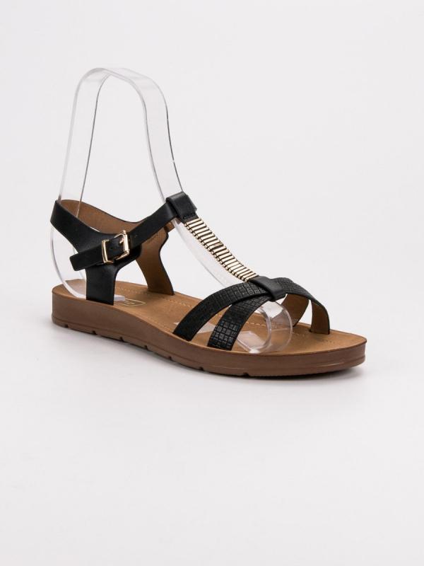 Klasické čierne sandále