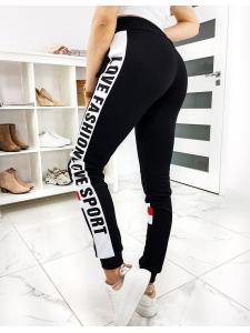 Čierne dámske nohavice Fashion