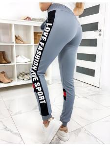 Šedé dámske nohavice Fashion