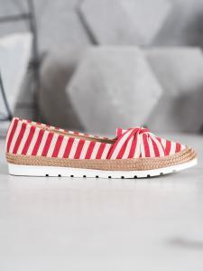 Nazúvacie pruhované topánky