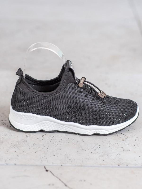 Čierne sneakersy s kryštálmi