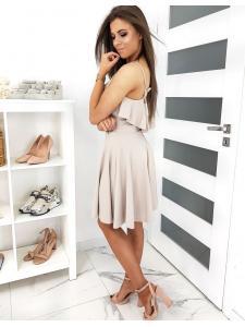 Béžové šaty Cornelia