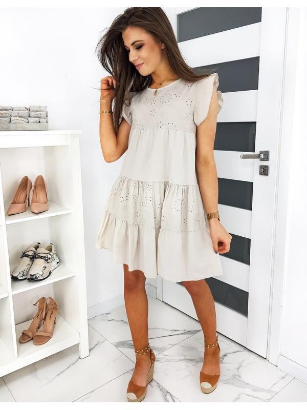 Béžové šaty Moliras