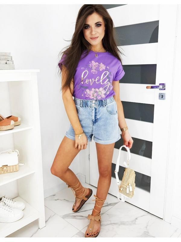 Liliové dámske tričko Lovely More