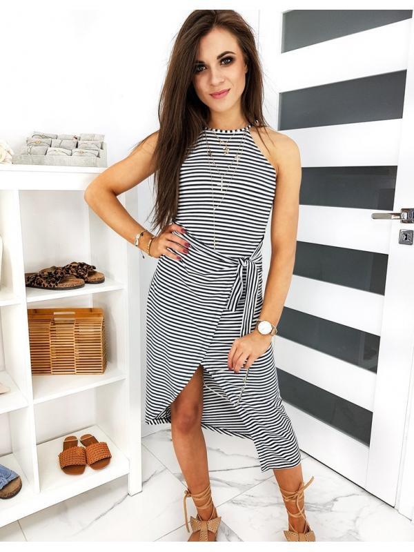 Bielo-čierne šaty Monaco