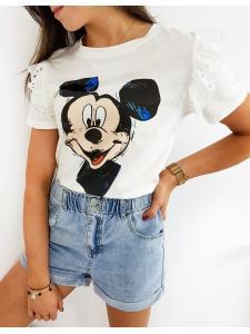 Ecru dámske tričko Micky Classic