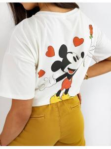 Ecru dámske tričko Micky Two