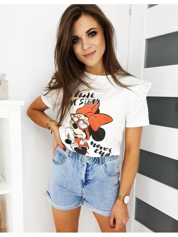 Ecru dámske tričko Minni Love Story