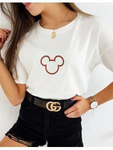 Ecru dámske tričko Micky Duo