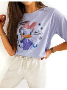 Fialové dámske tričko Daisy Duck