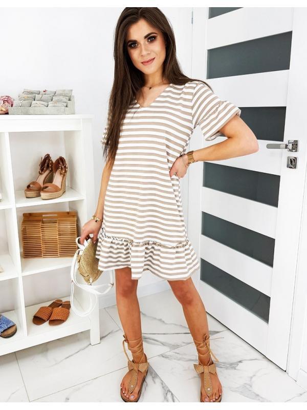 Béžové šaty Zefi