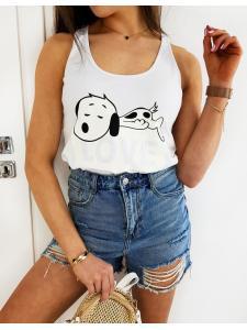 Biele dámske tričko Snoopy Love