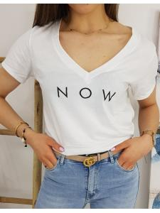 Biele dámske tričko Now
