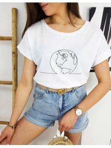 Biele dámske tričko Globe