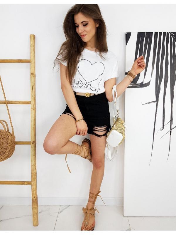 Biele dámske tričko Love Hand