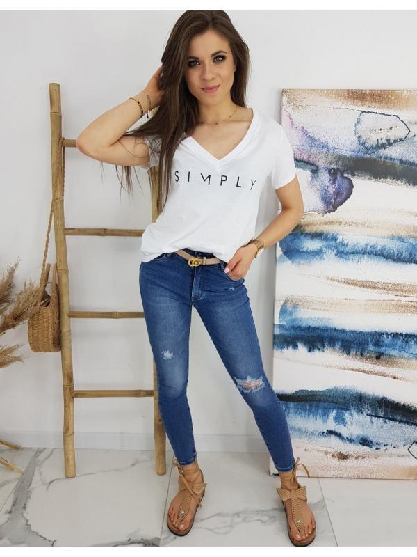 Biele dámske tričko Simply
