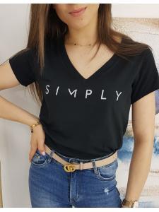 Čierne dámske tričko Simply
