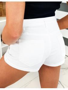 Biele dámske džínsové šortky Bever