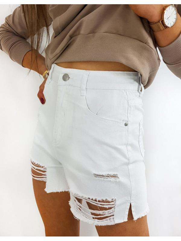 Biele dámske džínsové šortky Davis