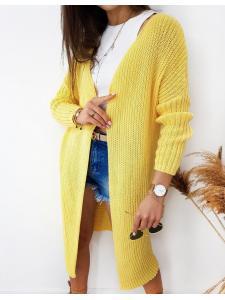 Dámsky sveter kardigan Bartero žltý