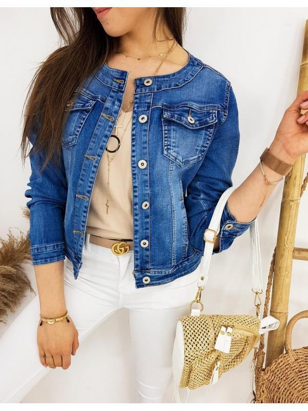 Modrá dámska džínsová bunda Chanelles II