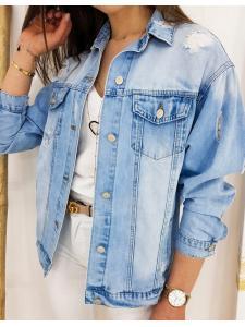 Modrá dámska džínsová bunda Stella