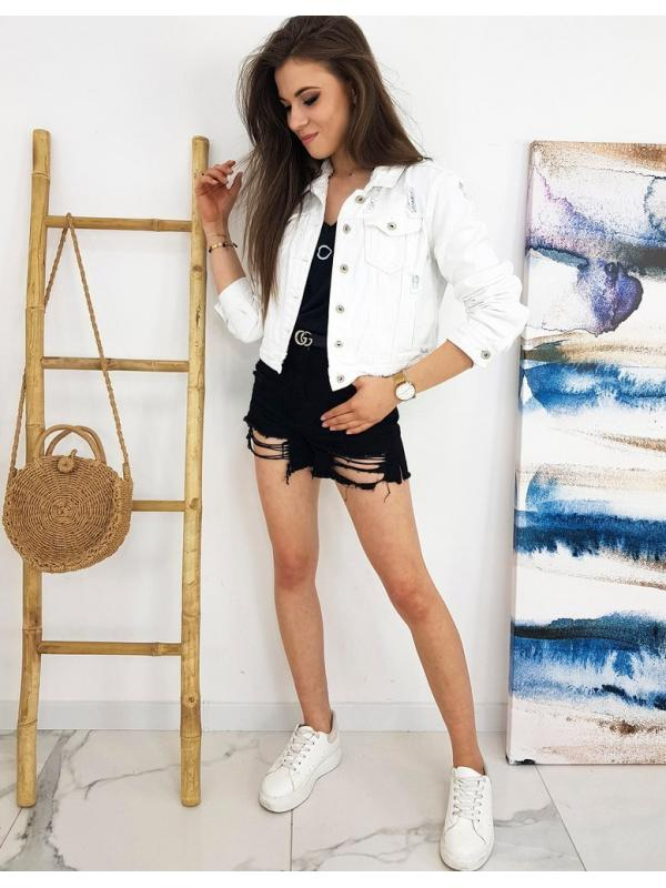 Biala dámska džínsová bunda Buenos