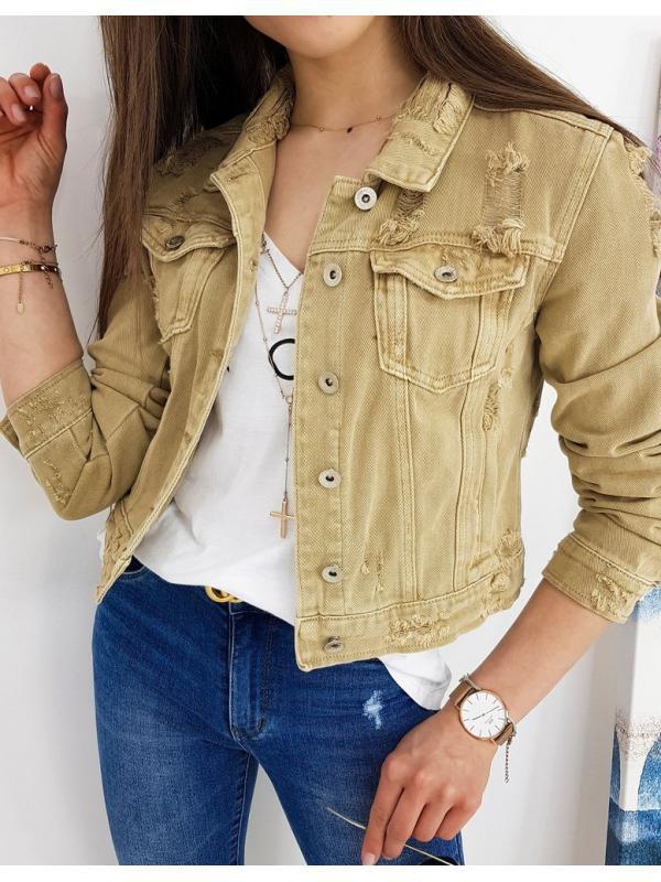 Béžová dámska džínsová bunda Buenos
