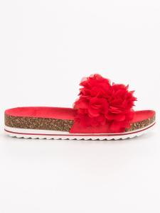 Módne červené šľapky