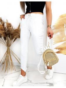 Biele dámske nohavice Davids